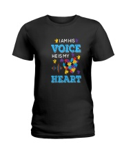 I'm His Voice He Is Mr Heart Ladies T-Shirt front