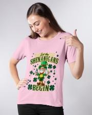 Shennanigans Patrick Saint - Cute Funny Ladies T-Shirt apparel-ladies-t-shirt-lifestyle-front-09