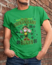 St Patrick's Day Let The Shenanigans Begin Classic T-Shirt apparel-classic-tshirt-lifestyle-26