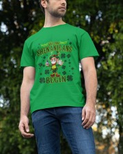 St Patrick's Day Let The Shenanigans Begin Classic T-Shirt apparel-classic-tshirt-lifestyle-front-47