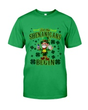 St Patrick's Day Let The Shenanigans Begin Classic T-Shirt front