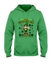 St Patrick's Day Let The Shenanigans Begin Hooded Sweatshirt tile