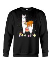 Llama And Sloths Easter Crewneck Sweatshirt tile
