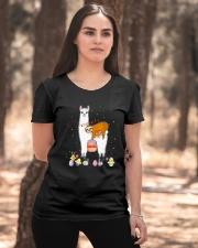 Llama And Sloths Easter Ladies T-Shirt apparel-ladies-t-shirt-lifestyle-05