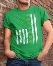 St Patrick's Day With Flag Classic T-Shirt apparel-classic-tshirt-lifestyle-26