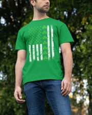 St Patrick's Day With Flag Classic T-Shirt apparel-classic-tshirt-lifestyle-front-47