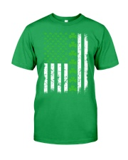 St Patrick's Day With Flag Classic T-Shirt front