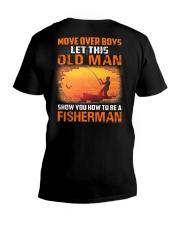 Fishing Move Over Boys Eng V-Neck T-Shirt thumbnail