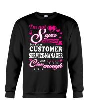 CUSTOMER SERVICE-MANAGER Crewneck Sweatshirt thumbnail