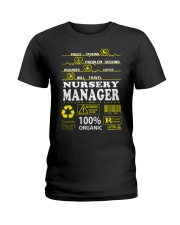 NURSERY MANAGER Ladies T-Shirt tile