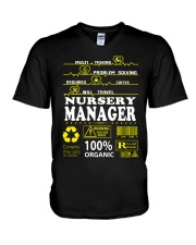 NURSERY MANAGER V-Neck T-Shirt tile
