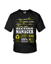SECTION MANAGER Youth T-Shirt thumbnail