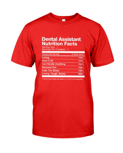 Dental Assistant Nutrition Facts Shirt
