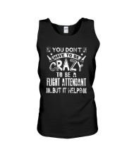 Crazy to be a Flight Attendant T shirts Unisex Tank thumbnail
