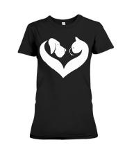 Dog And Cat Lover Shirt Premium Fit Ladies Tee thumbnail