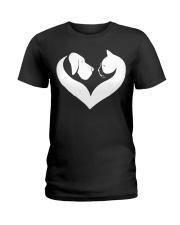 Dog And Cat Lover Shirt Ladies T-Shirt thumbnail