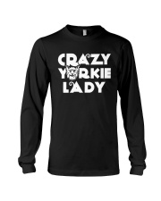 CRAZY YORKIE LADY SHIRT Long Sleeve Tee thumbnail