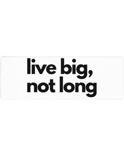 Goal is to live big not long