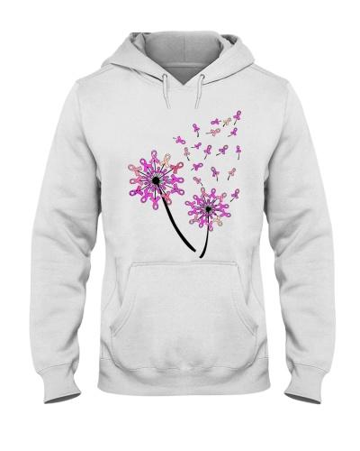 Dandelion flower - Breast cancer Awareness