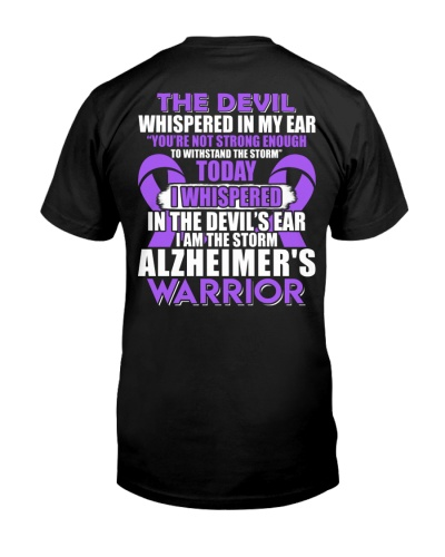 The devil whispered - Alzheimer's Awareness