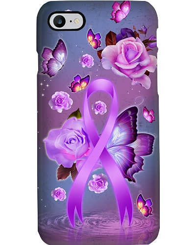 Alzheimer's Awareness  - Buttefly and Rose