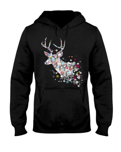 Puzzle Reindeer Snowlake - Autism Awareness