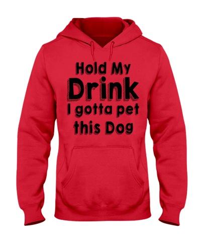 Hold my drink I gotta pet this dog