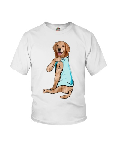 I love Mom - Funny Golden Retriever