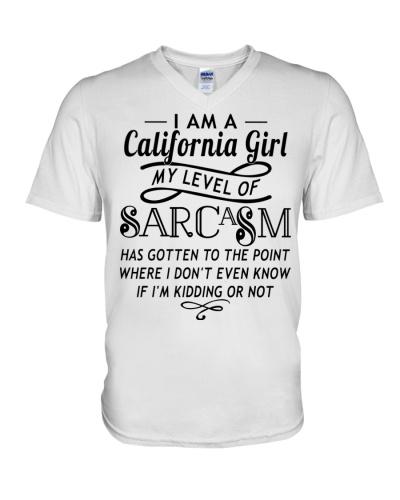I am a California girl My level of sarcasm