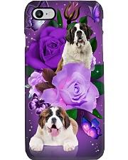 Dog - Saint Bernard Purple Rose Phone Case i-phone-7-case