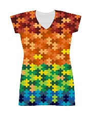 Autism Puzzle - Autism Awareness All-over Dress thumbnail