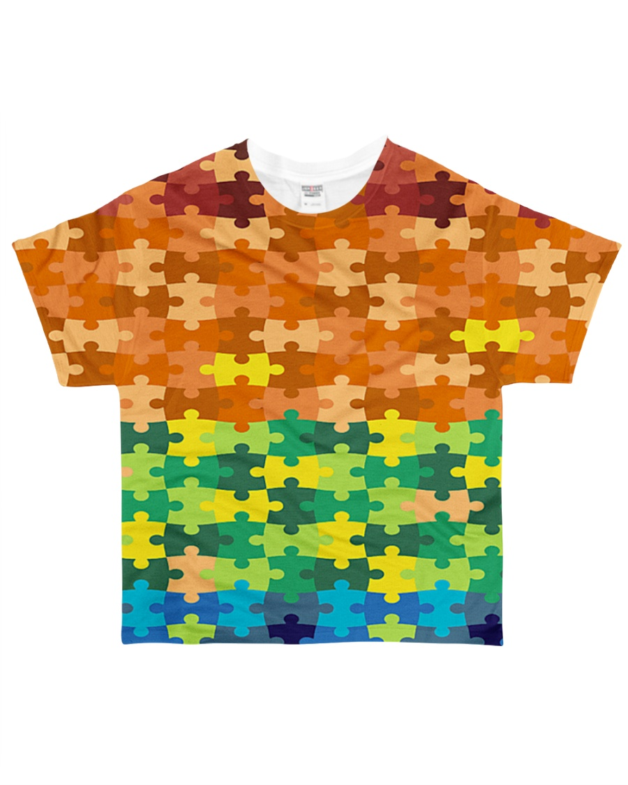 Autism Puzzle - Autism Awareness All-over T-Shirt