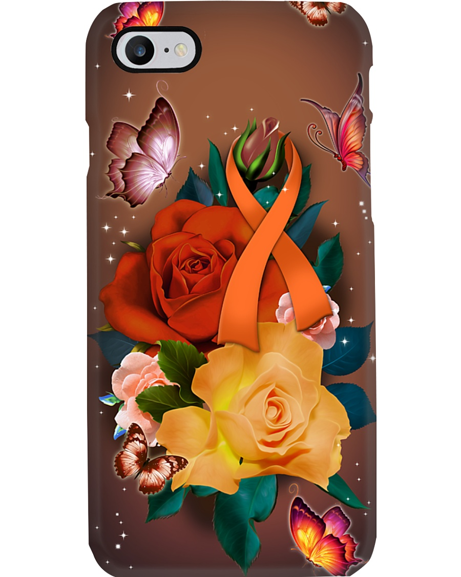 Multiple Sclerosis Awareness - Ribbon and Rose Phone Case