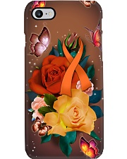 Multiple Sclerosis Awareness - Ribbon and Rose Phone Case i-phone-7-case