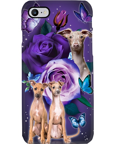 Dog - Italian Greyhound Purple Rose