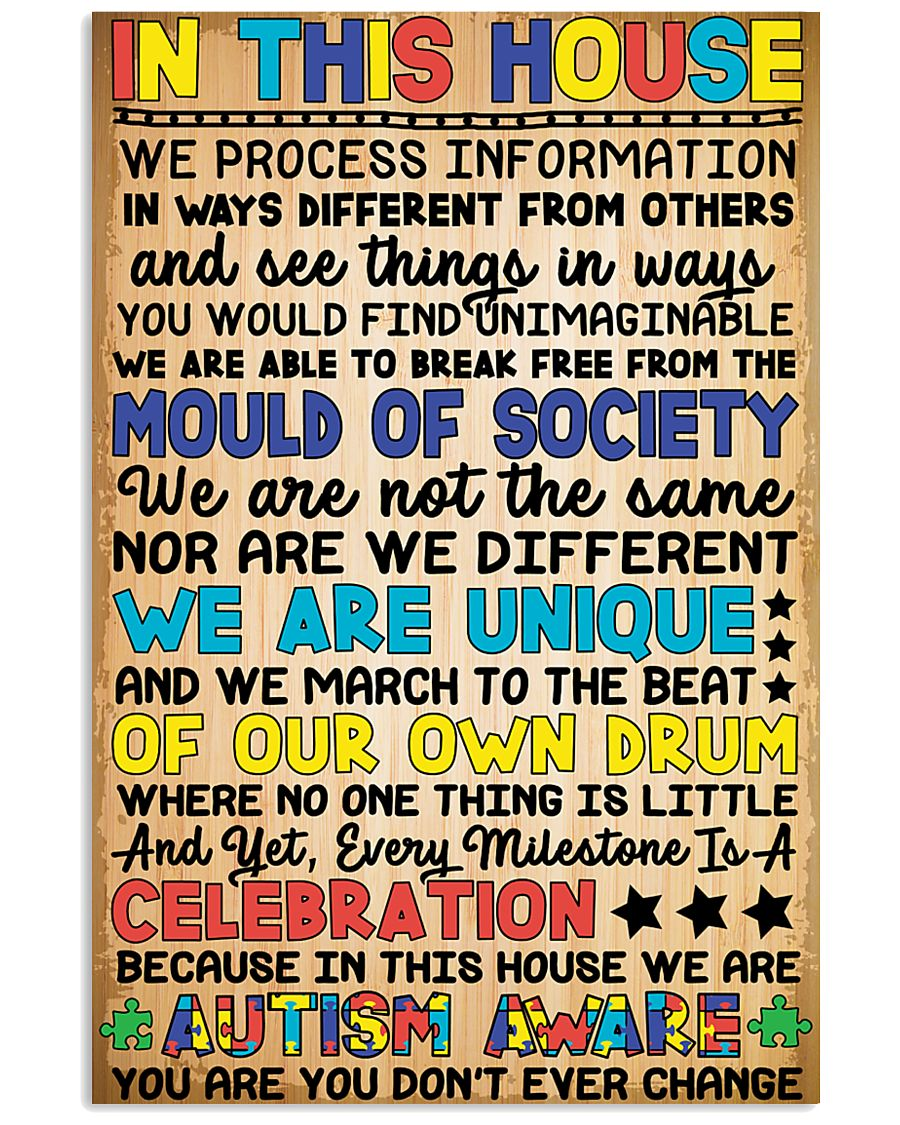 In this house - Autism Awareness 24x36 Poster