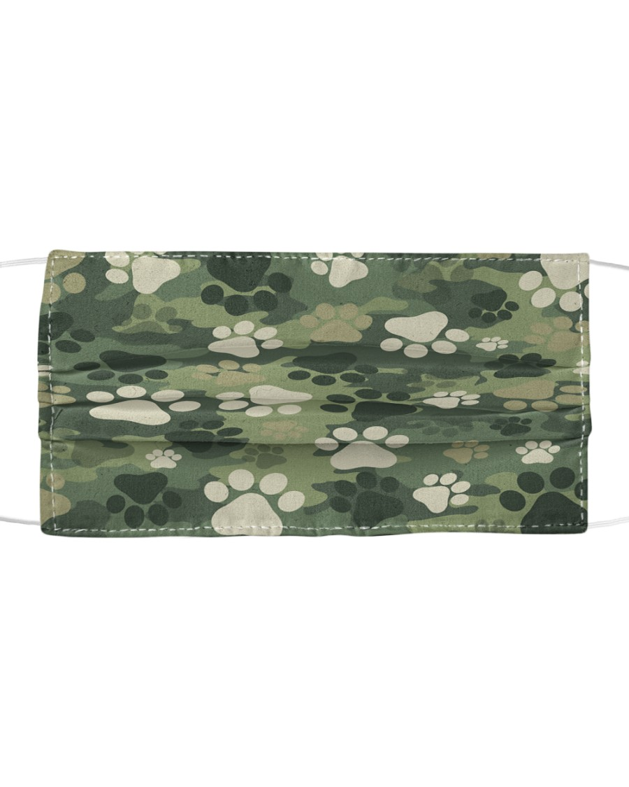 Cute camouflage feet Cloth face mask