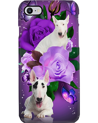 Dog - Bull Terrier Purple Rose