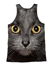 Cute Black Cat All-over Unisex Tank back