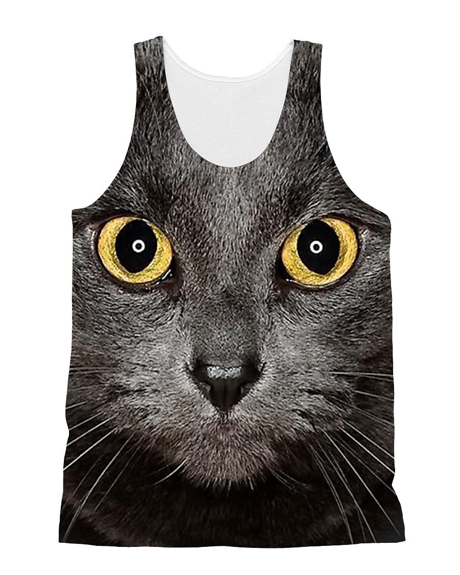 Cute Black Cat All-over Unisex Tank