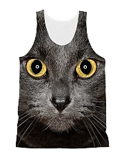 Cute Black Cat All-over Unisex Tank front