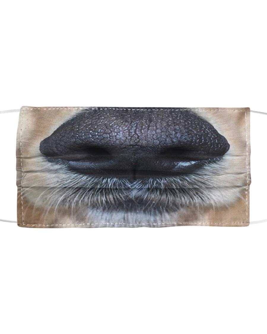 Cute Golden Retriever Nose Cloth face mask