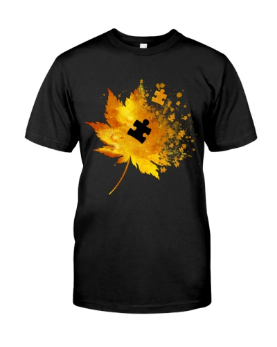 Autism Maple leaves - Autism Awareness