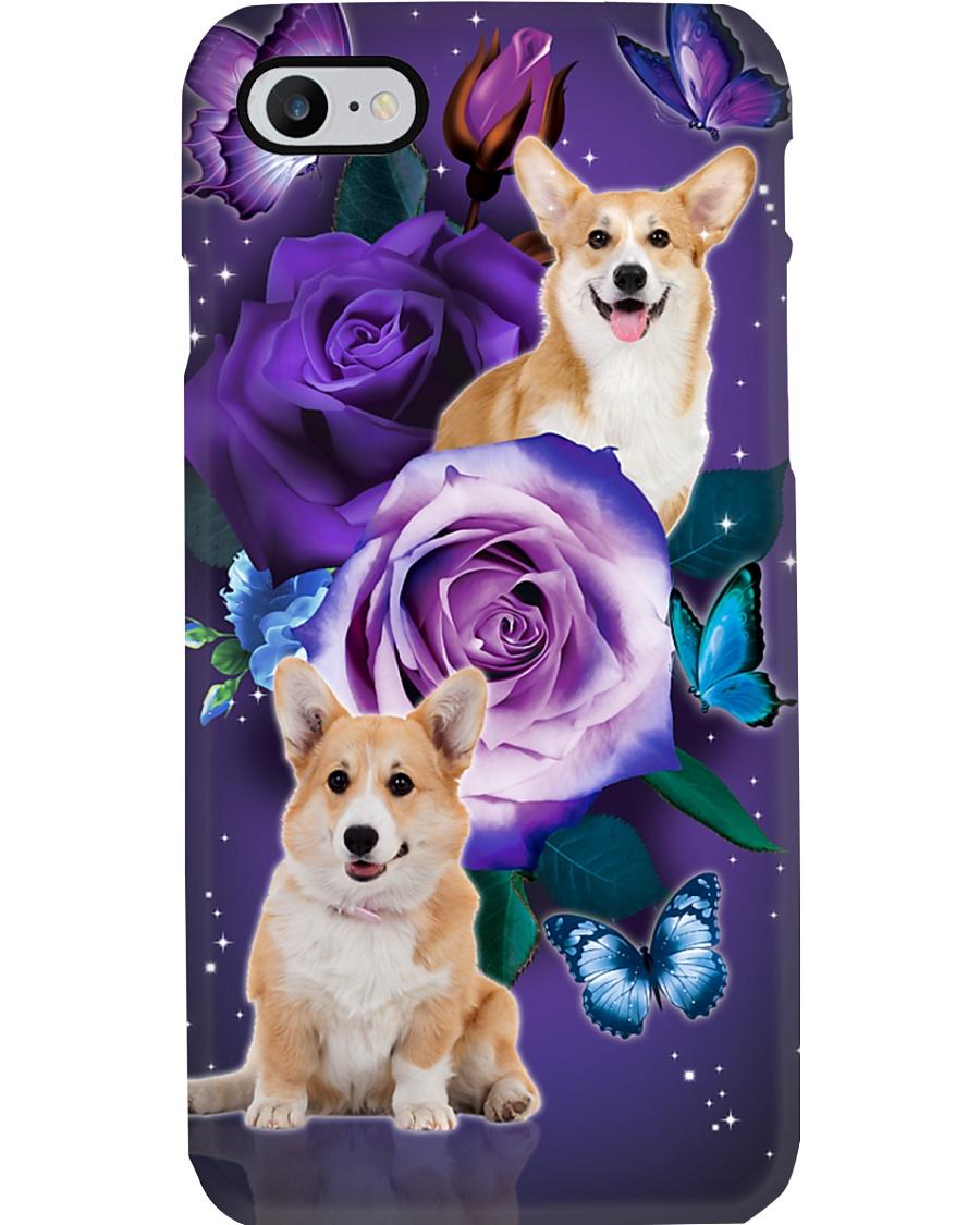 Dog - Corgi Purple Rose Phone Case
