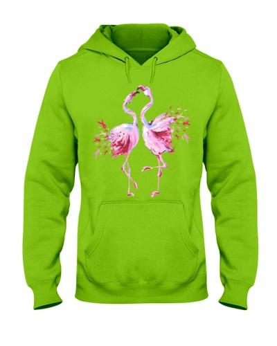Couple flamingo dancing - Breast cancer Awareness