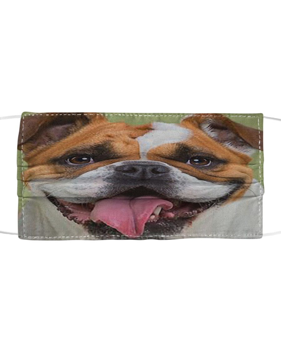 Cute Bulldog Dog Cloth face mask