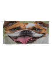 Cute Bulldog Dog Cloth face mask front
