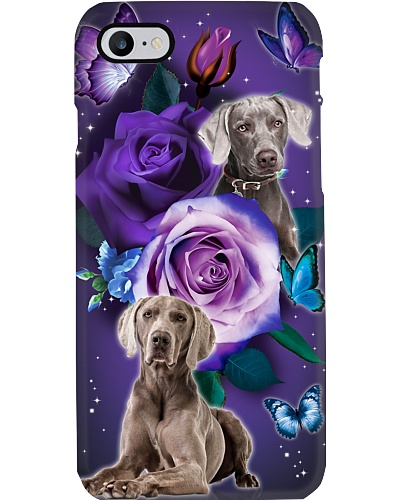 Dog - Weimaraner Purple Rose