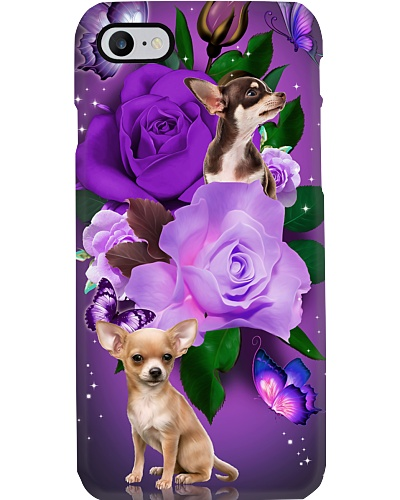 Dog - Chihuahua Purple Rose
