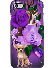 Dog - Chihuahua Purple Rose Phone Case i-phone-7-case
